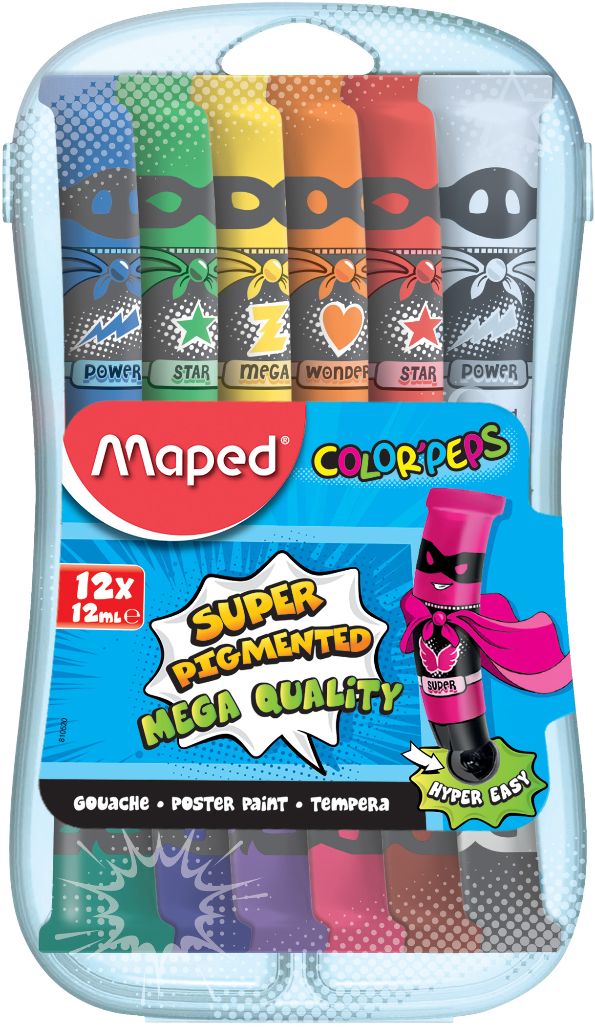 Гуашь 12шт Maped Colorpeps тюбик
