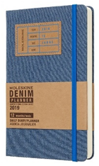 Ежедневник 130*210мм 400л Moleskine Limited Edition Denim Large синий