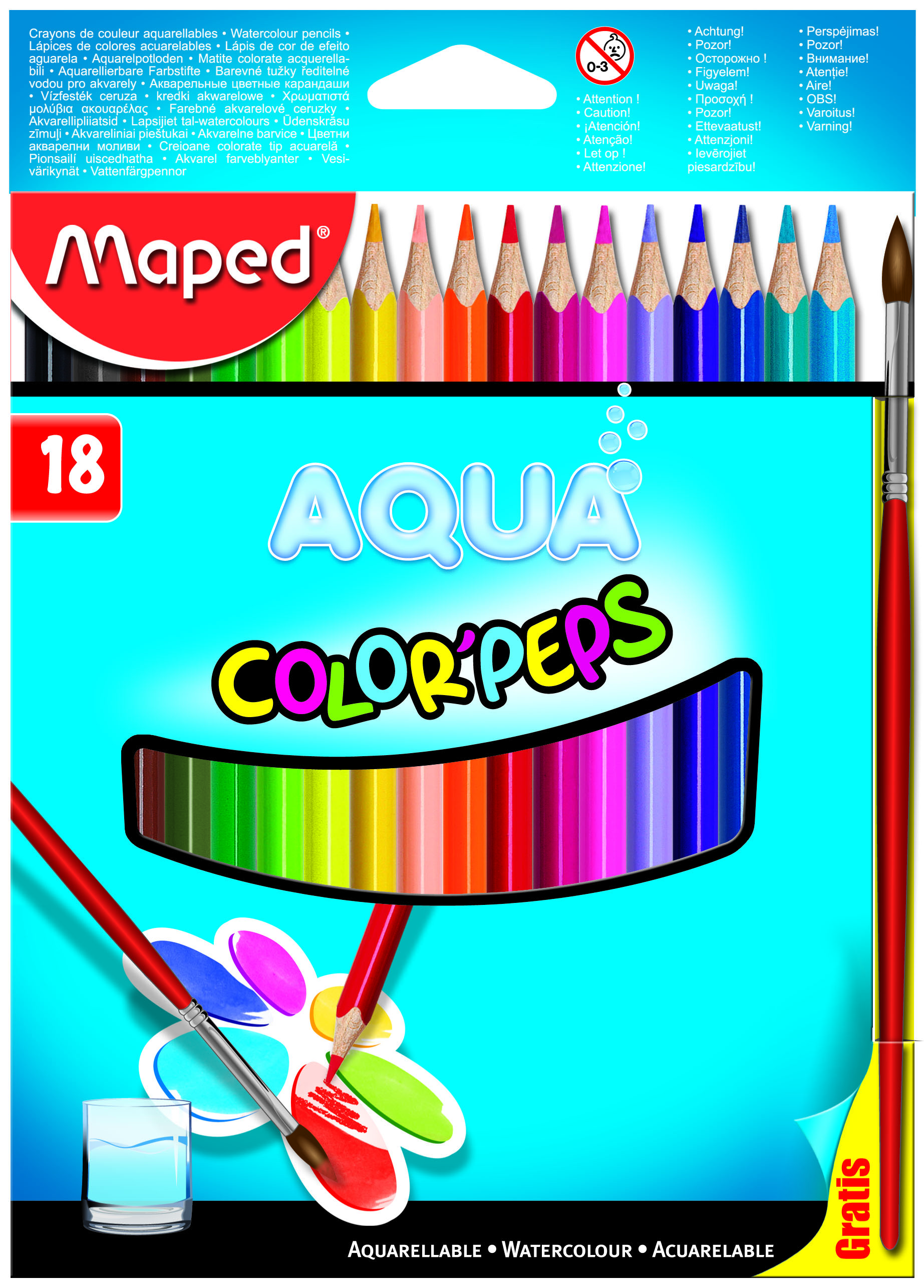 Карандаши 18цв Maped Color Peps аквар